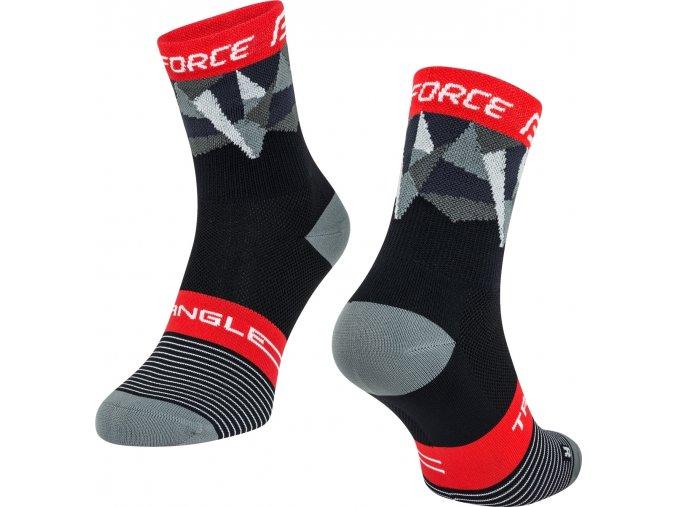 ponožky FORCE TRIANGLE, černo-šedo-červené