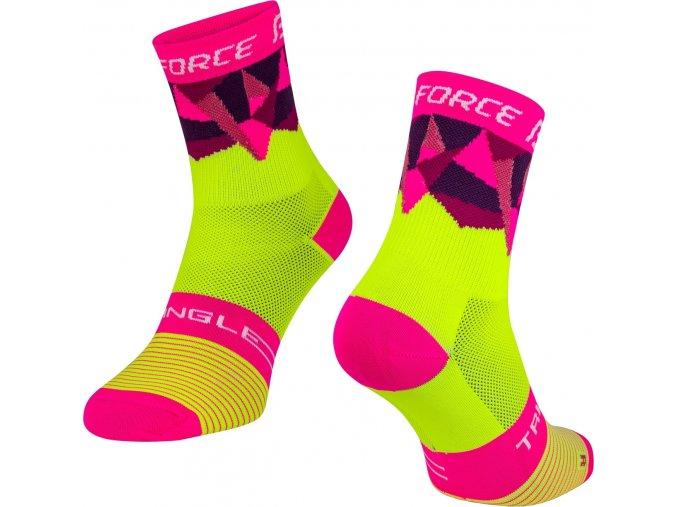 ponožky FORCE TRIANGLE, fluo-růžové