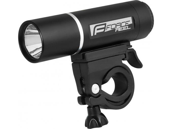 světlo přední FORCE REEL 140LM, baterie, černé