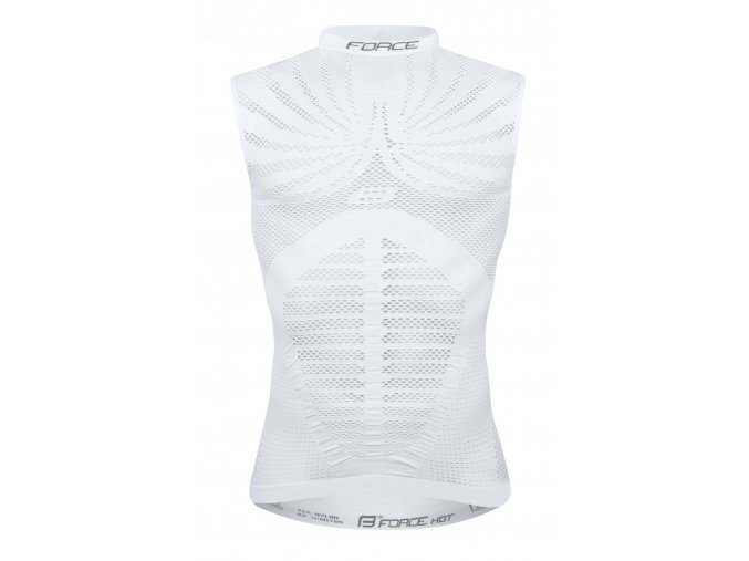 triko funkční FORCE HOT bez rukávů,bílé
