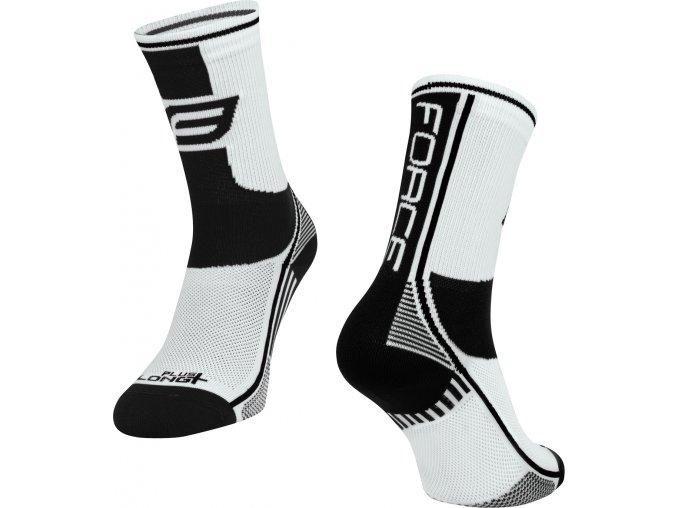 ponožky F LONG PLUS, bílo-černé