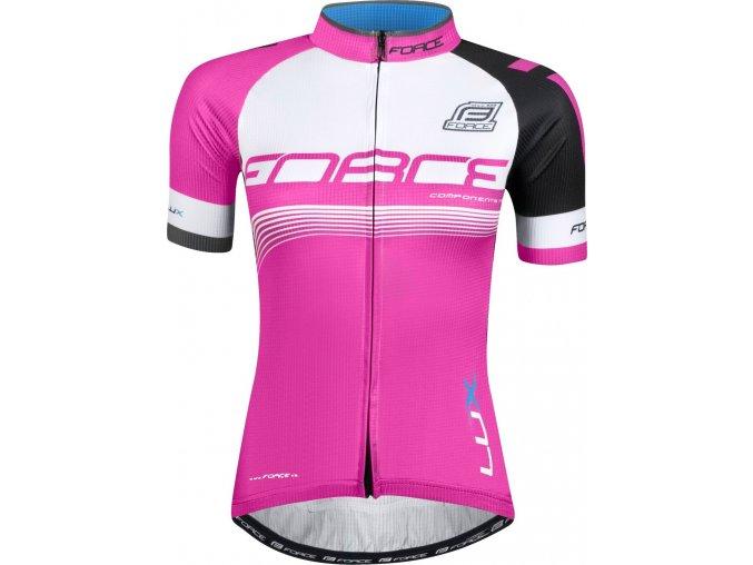 dres FORCE LUX dámský krátký rukáv růžový