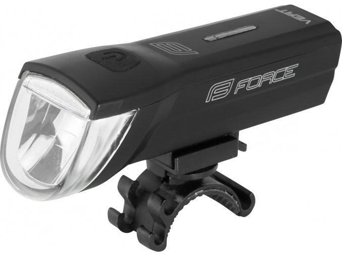 světlo přední FORCE VERT 110LM USB, černé