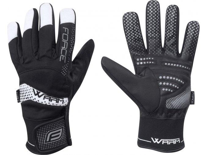 rukavice zimní FORCE WARM 17, černé
