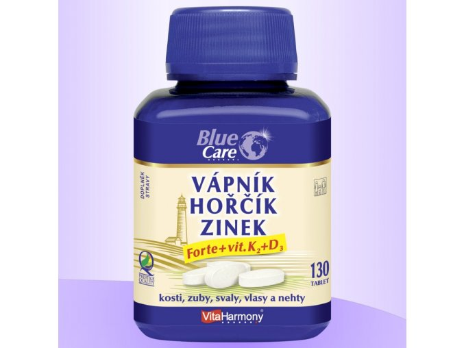 vitaharmony vápník hořčík zinek forte vitamin K2 + D3