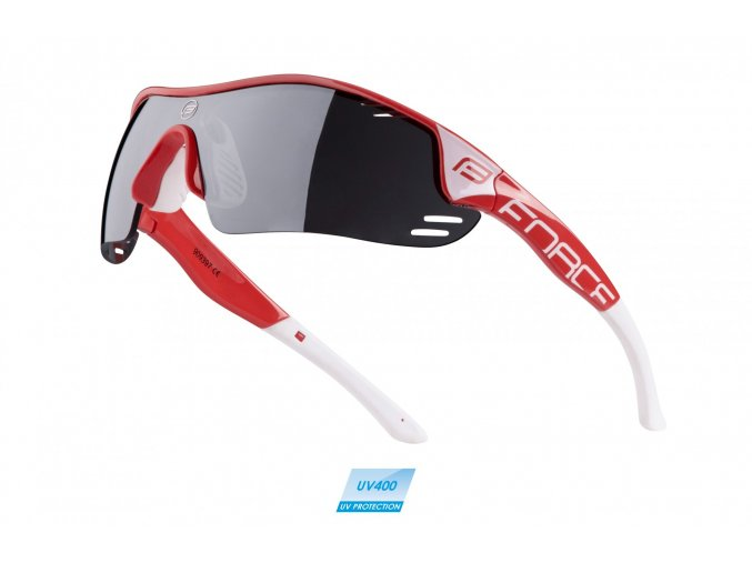 brýle FORCE RACE PRO červeno-bílé,černá laser skla
