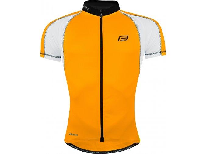 dres FORCE T10 krátký rukáv, oranžovo-bílý