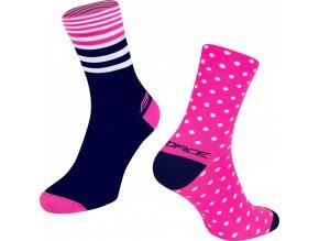 ponožky FORCE SPOT, růž.-modré