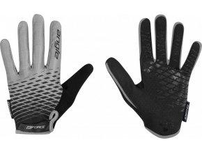 rukavice FORCE KID MTB ANGLE letní, šedo-černé
