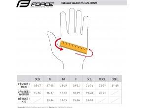 rukavice zimní FORCE KID X72, fluo