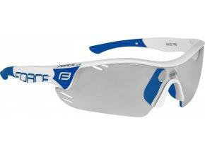brýle FORCE RACE PRO bílo-modré, fotochromatická