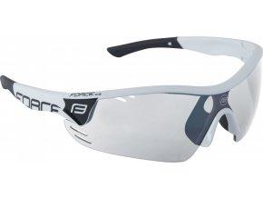 brýle FORCE RACE PRO bílo-černé, fotochromatická