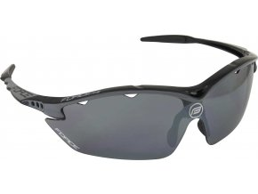brýle FORCE RON černé, černá laser skla