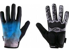 rukavice FORCE MTB CORE letní,modré