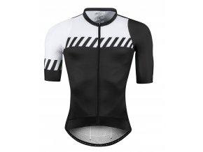 dres F FASHION, krátký rukáv, černo-bílý