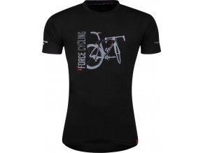 triko FORCE FLOW krátký rukáv, černé