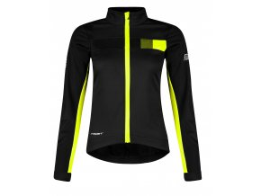 bunda FORCE FROST LADY softshell, černo-fluo