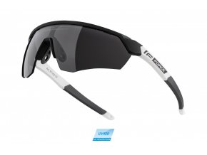 brýle FORCE ENIGMA černo-bílé mat., černá skla