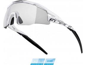 brýle FORCE EVEREST, bílo-černé, fotochrom. skla