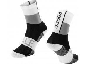 ponožky FORCE HALE, bílo-šedo-černé