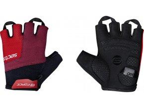 rukavice FORCE SECTOR gel, černo-červené