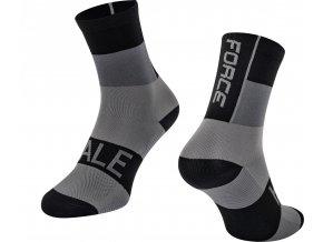 ponožky FORCE HALE, černo-šedé