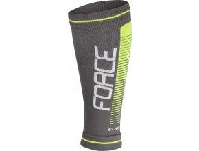 návleky na nohy FORCE COMPRESS, šedo-fluo