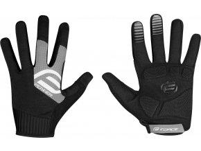 rukavice FORCE MTB POWER, černo-šedé