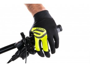 rukavice FORCE MTB POWER, černo-fluo
