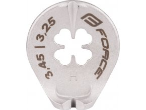 centrklíč FORCE, nerez, na niple 3,25 a 3,45 mm