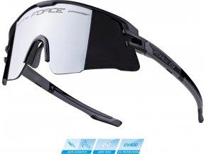brýle FORCE AMBIENT, černo-šedé, černá zrc. skla