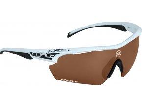 brýle FORCE AEON bílo-černé, rozjasňovací skla
