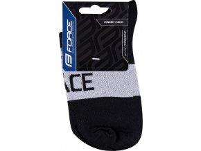 ponožky FORCE TRACE, šedo-černé