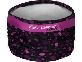 šátek FORCE ROCK jaro/podzim, černo-růžový UNI