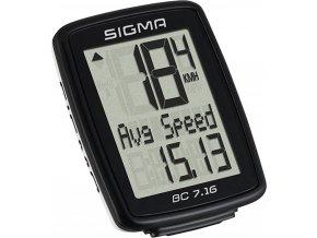 počítač SIGMA BC 7.16, 7 funkcí drát černý