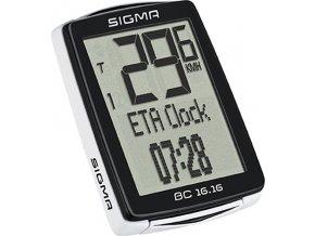počítač SIGMA BC 16.16, 16 funkcí drát černý