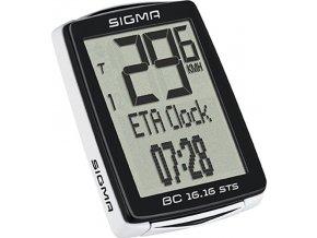 počítač SIGMA BC 16.16 STS CAD 16funk. bezdrát črn