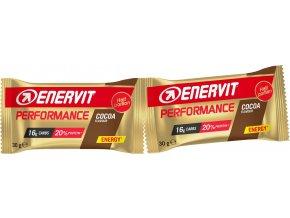 ENERVIT Performance Bar, tyčinka 2x30g, kakao