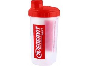 láhev-šejkr ENERVIT 0,7 l,  bílý/červený vršek