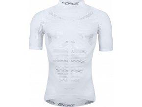 triko/funkční prádlo FORCE WIND krátký rukáv,bílé