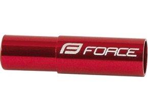 koncovky brzd. bowdenu FORCE 20ks /5mm Al, červené