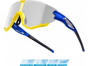 brýle FORCE CREED modro-fluo, fotochromatická skla
