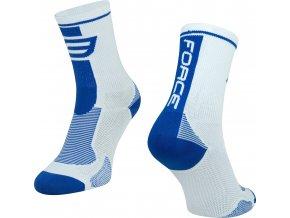 ponožky FORCE LONG, bílo-modré