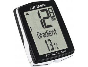 počítač SIGMA BC 14.16 STS 14 funkcí bezdrát černý