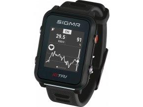 hodinky sportovní SIGMA iD.TRI Basic, černé