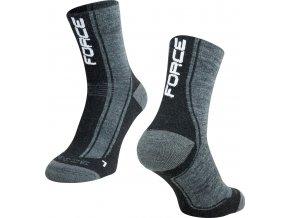 Zimní ponožky FORCE FREEZE, šedo-černo-bílé