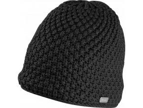 čepice zimní FORCE GLEE, pletená, černá