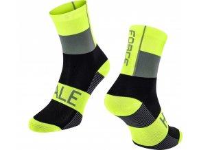 ponožky FORCE HALE, fluo-černo-šedé