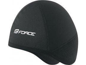 čepice pod přilbu FORCE zimní, černá