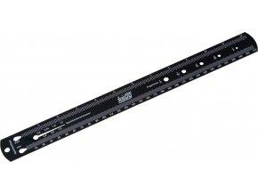 pravítko-kalibr na dráty a kuličky ložisek, Fe